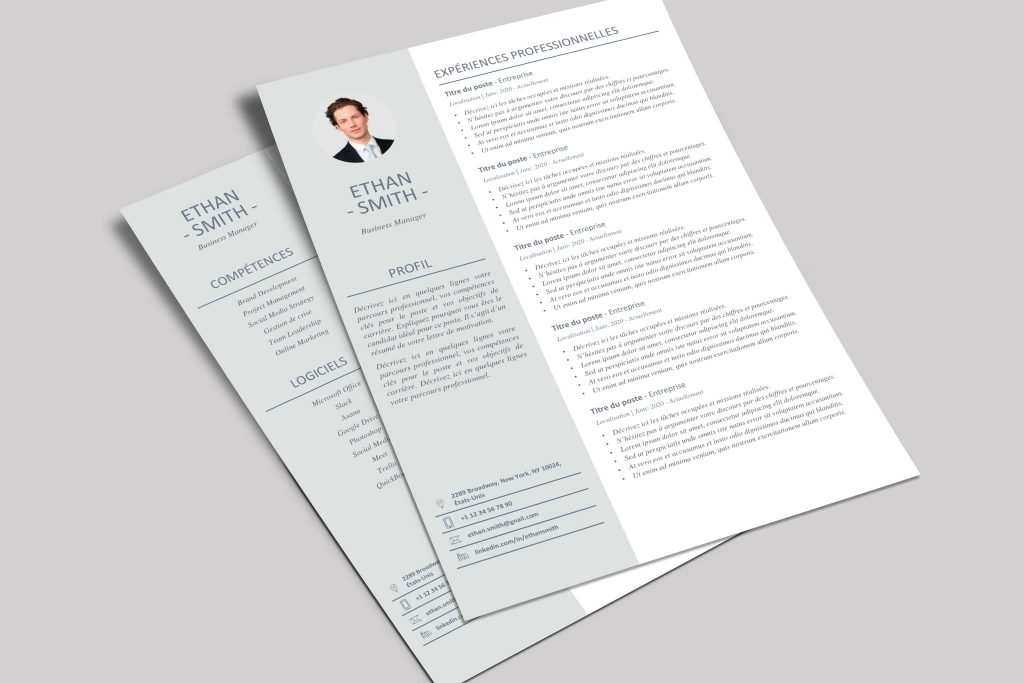 Modèle de CV Shanghai Vert