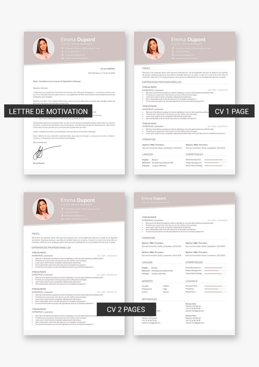 template-cv-barcelone-telecharger-payant