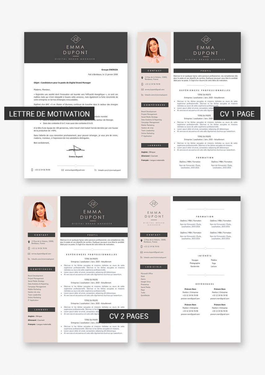 template-cv-dubai-telecharger-payant