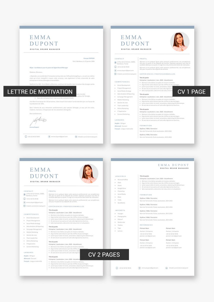 template-cv-helsinki-telecharger-payant