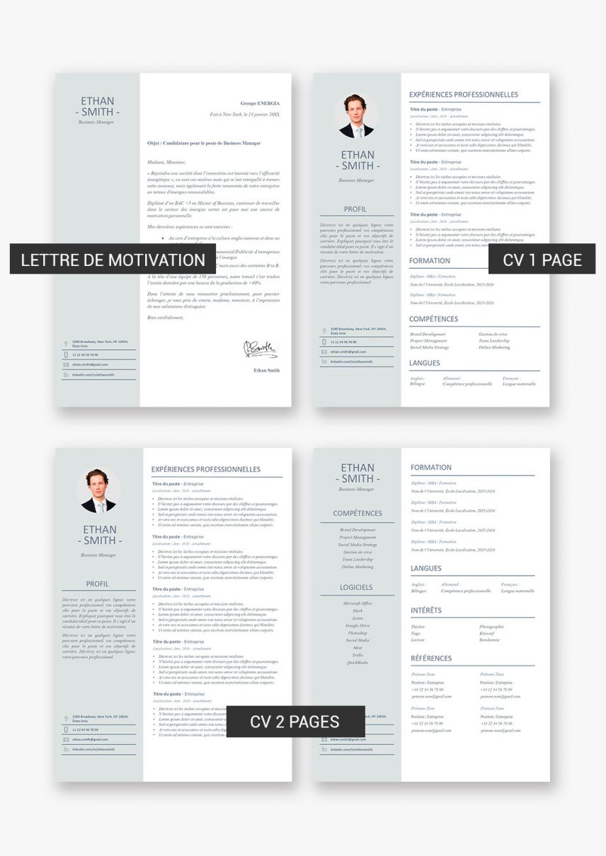 template-cv-shanghai-telecharger-payant