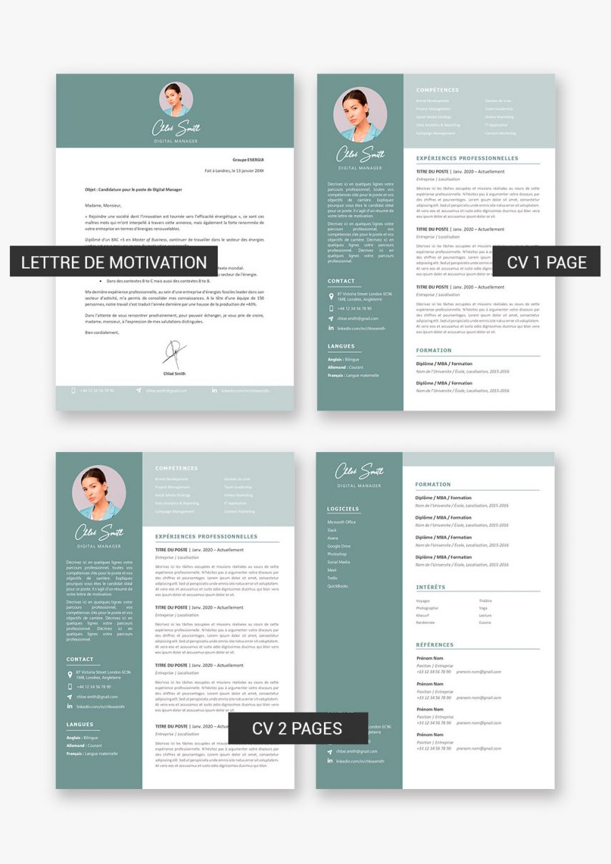 template-cv-sydney-telecharger-payant